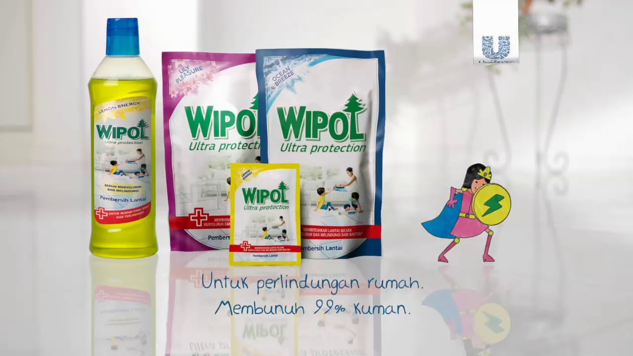 Wipol TV Commercial, Indonedia