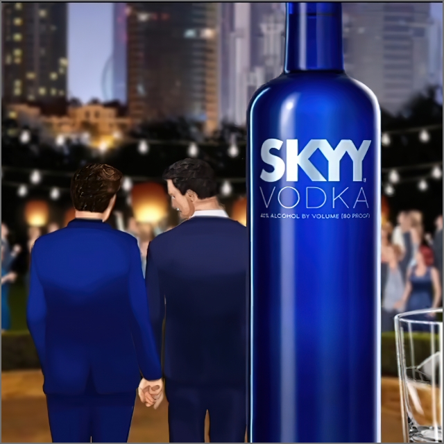 2D Illustrated Animatic Example  for Skyy Vodka